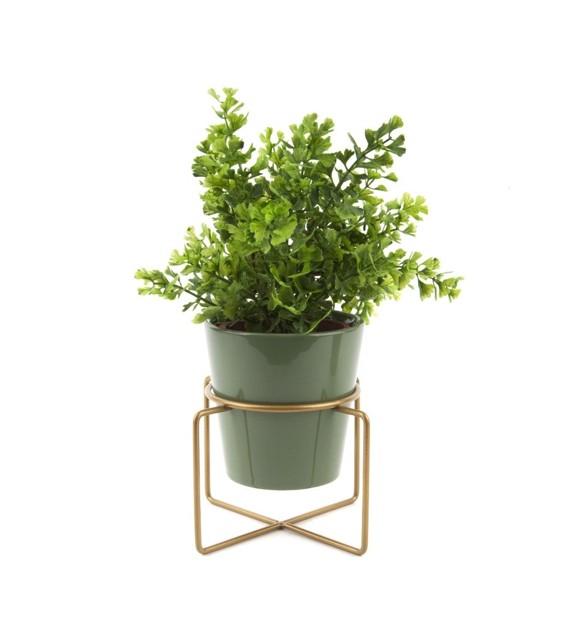 Pot sur socle green