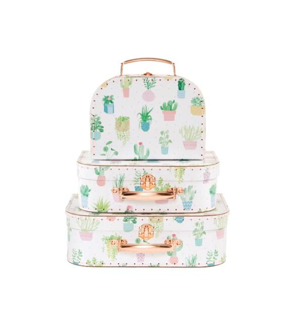 Set 3 valises cactus