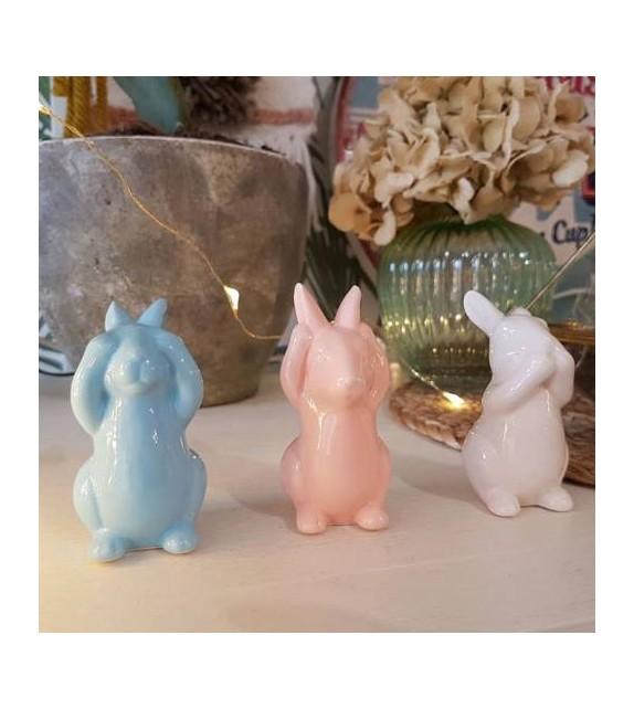 """Set de 3 figurines """"les lapins sages"""""""