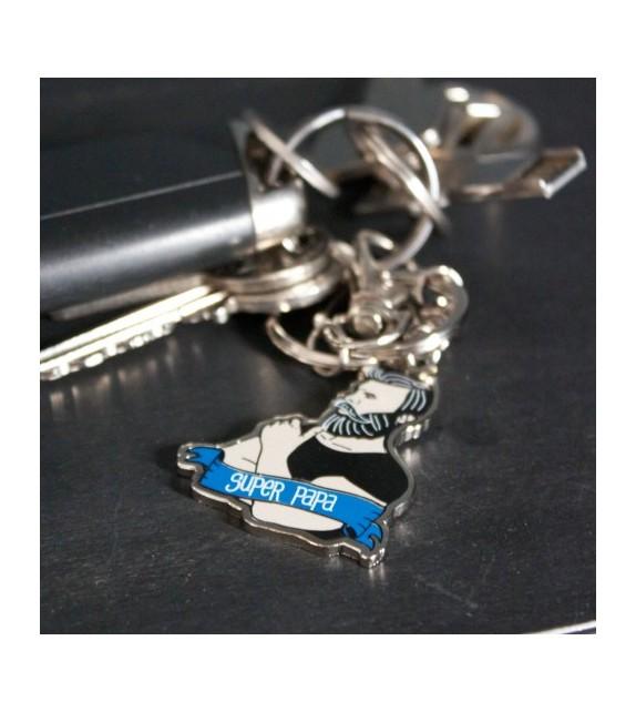 Porte clés Super papa