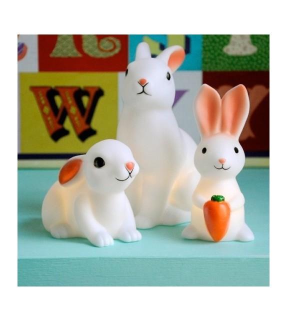 Veilleuse lapin blanc deco