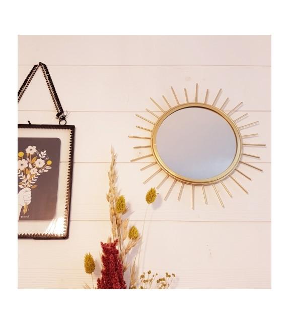 Miroir soleil métal gold