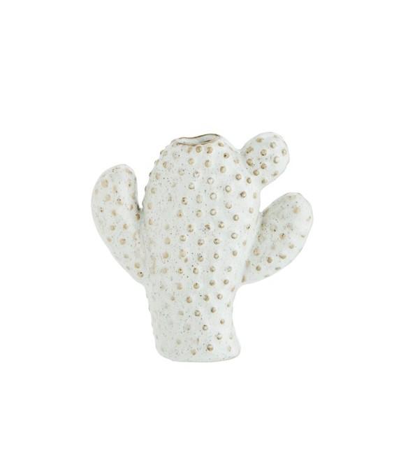 Petit vase cactus blanc