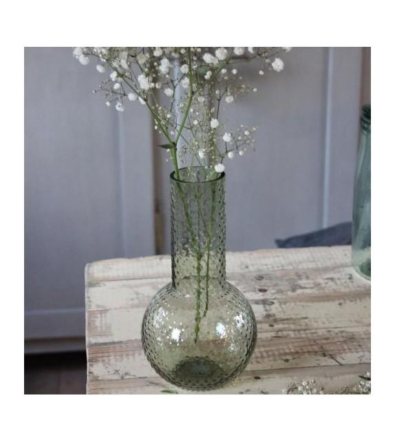 Vase vert dots