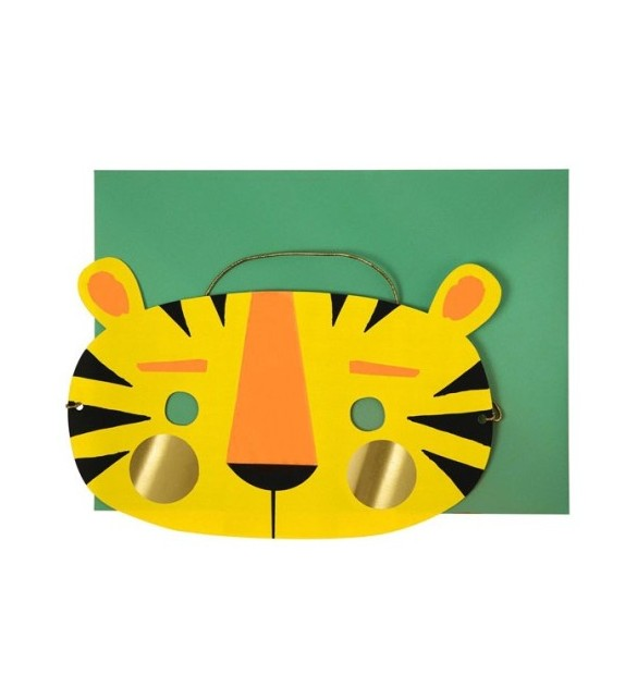 Carte masque tigre