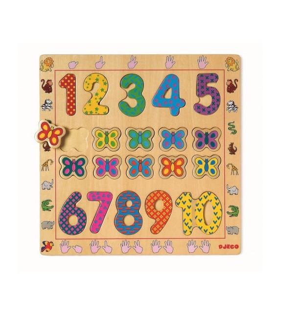 Puzzle bois 1-10