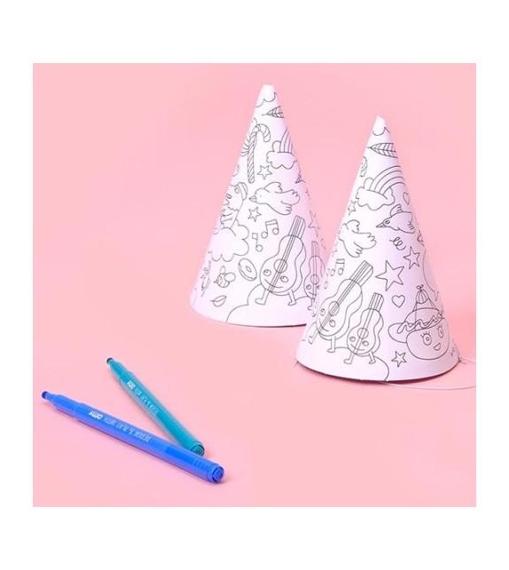 Chapeaux à colorier