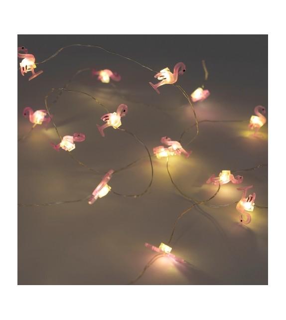 Guirlande flamant LED