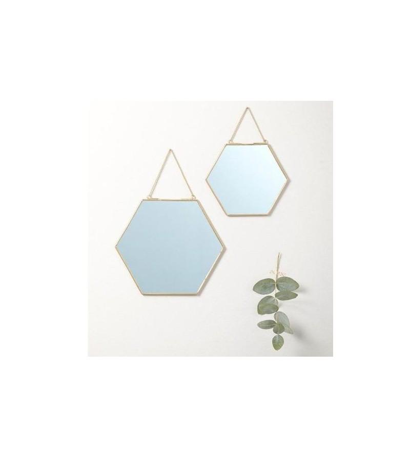 Miroir adhesif hexagonal id e inspirante for Miroir hexagonal cuivre