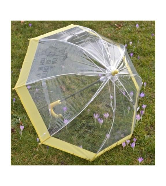 Parapluie transparent et jaune