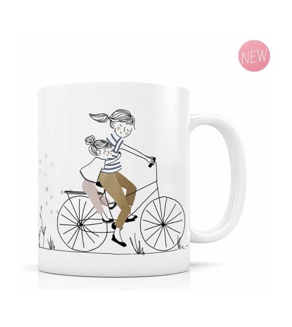 Mug Mère Fille à vélo