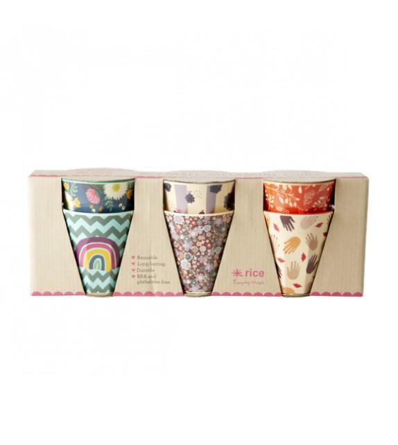 6 melamine cups S
