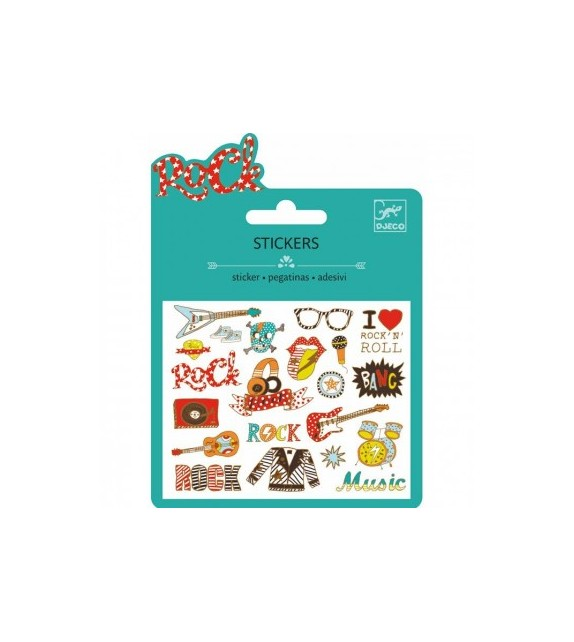 Mini sticker pop et rock