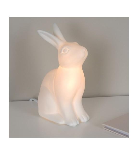 Lampe lapin céramique